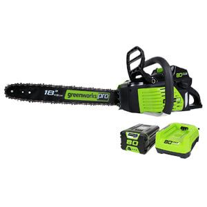 GreenWorks Pro GCS80420 80V 18-Inch Cordless Chainsaw